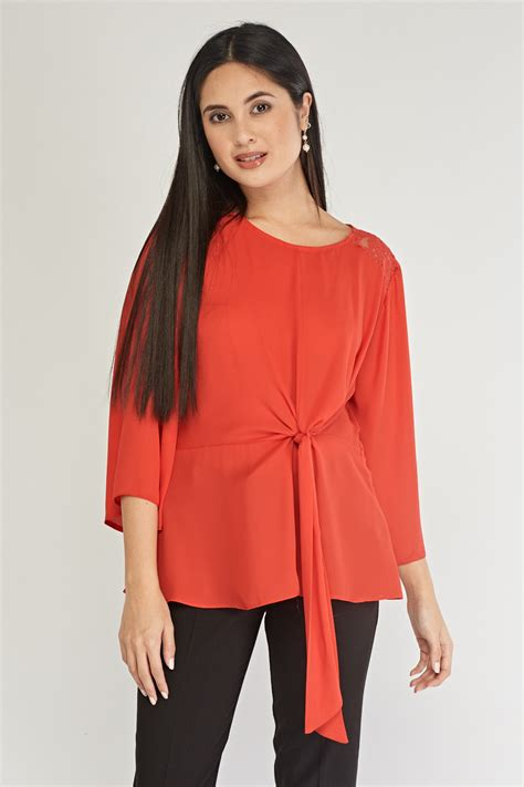 Lace Trim Chiffon Blouse lace trim chiffon blouse just 163 5