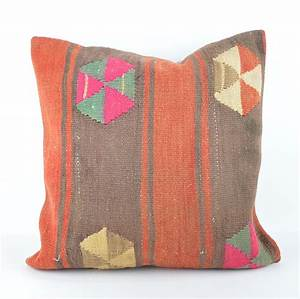 Large kilim pillow 20x2039 kilim cushion 50x50cm large for Big accent pillows