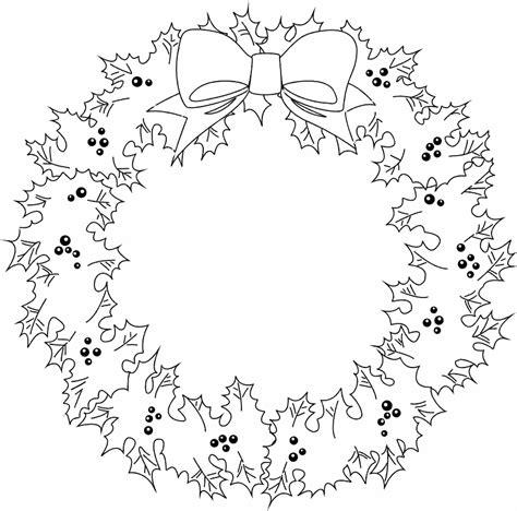 imagenes de coronas navidenas  colorear colorear
