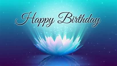 Birthday Happy Background Graphics Lotus Animation Motion