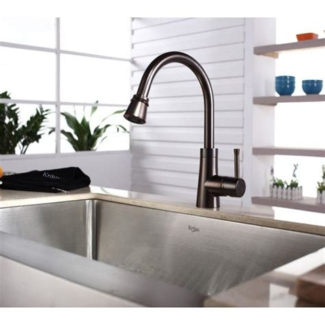 White Kitchen Sink With Stainless Steel Faucet by Bronze Faucet With Stainless Steel Sink It Works