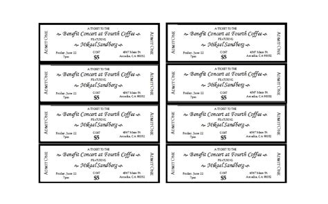 event ticket templates ms word templatelab