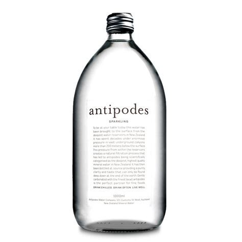 Antipodes Sparkling   Mineral Water from New Zealand