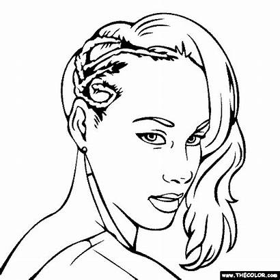 Coloring Keys Alicia Pages Beyonce Famous Drawings