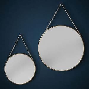 Miroir Doré Rond : miroir rond dor blog z dio ~ Teatrodelosmanantiales.com Idées de Décoration
