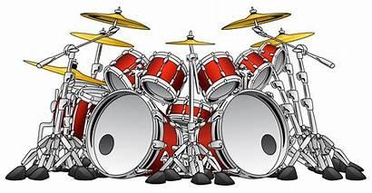 Drum Rock Instrument Vector Musical Illustration Piece