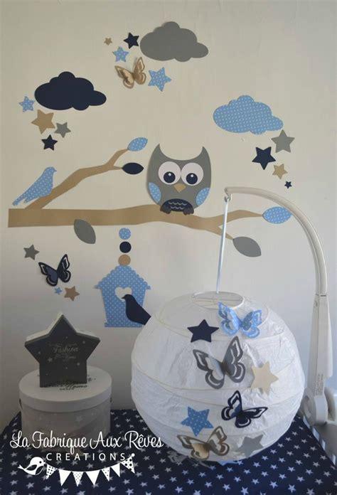 tapisserie chambre bébé décoration chambre enfant bébé garçon hibou chouette