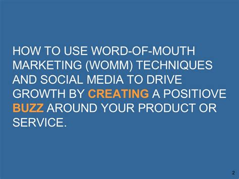 how to use word how to use word of mouth marketing