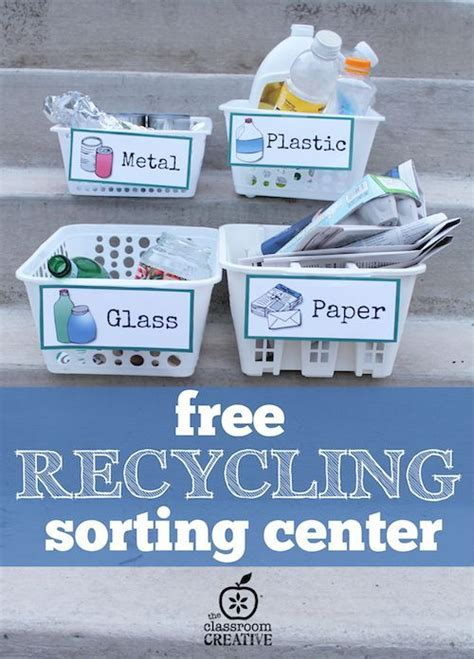 128 best images about earth day ideas on 733   6d4cbc224a555fd722b96928814256c2 recycling sorting activity preschool recycling center