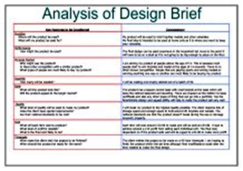 Analysis Of Design Brief  Gcse Design & Technology