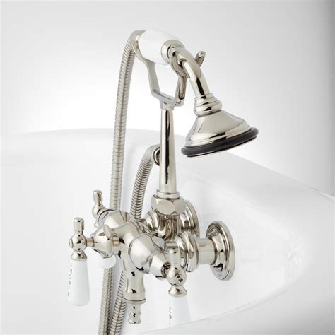 Leg Tub Faucet by Woodrow Wall Mount Tub Faucet And Shower Bathroom