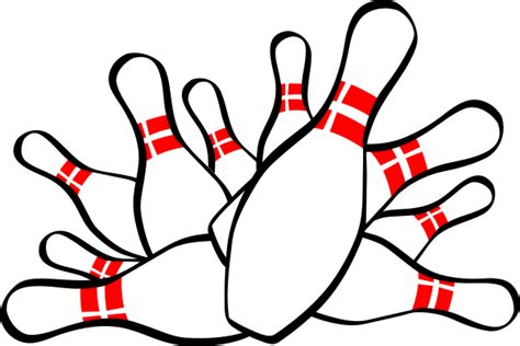 Bowling Pin Clipart Bowling Strike Clip At Clker Vector Clip