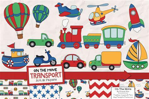 transportation clipart patterns illustrations