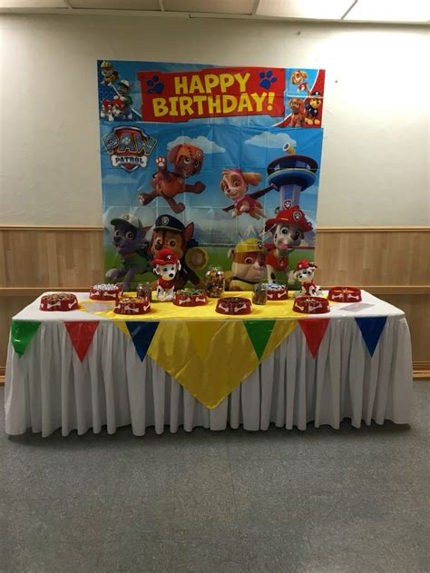 paw patrol candy table candy tables pinterest candy