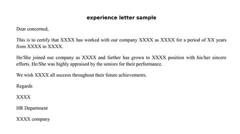 experience  relieving letter format wisdom