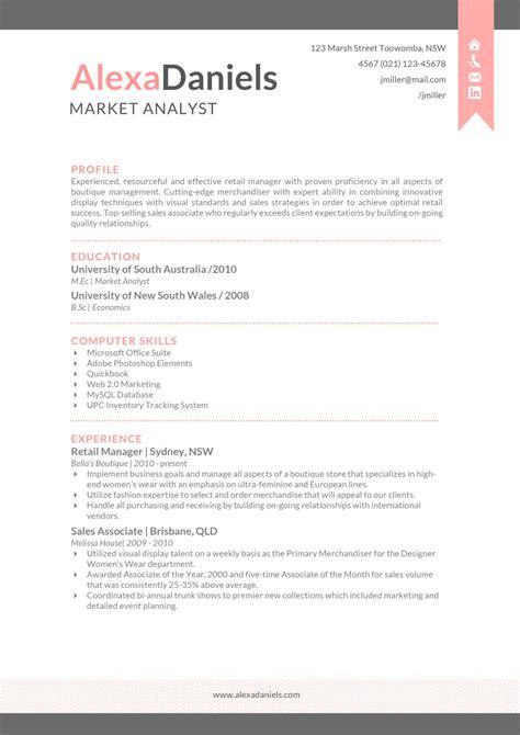 alexa resume creative resume template
