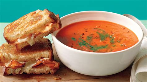 tomato soup  bacon grilled cheese recipe video