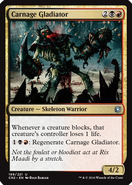 Mtg Skeleton Warrior Deck by Carnage Gladiator From Conspiracy Take The Crown Spoiler