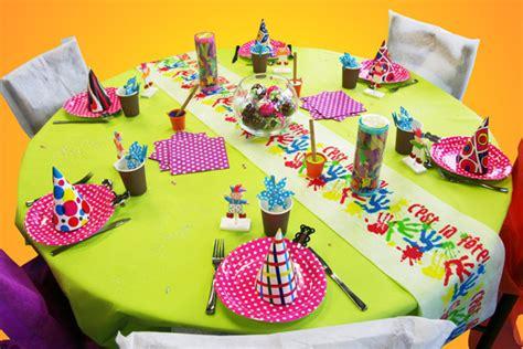 d 233 coration de table anniversaire d enfant d 233 corations f 234 tes