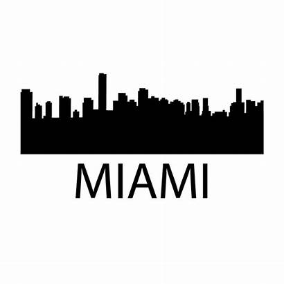 Miami Skyline Decal Kansas Vancouver Toronto Border