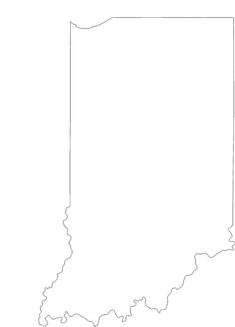 indiana state outline map