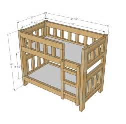 doll bunk bed woodworking plans woodshop plans