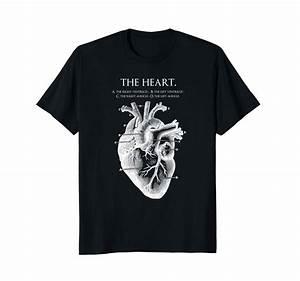 Anatomical Heart Shirt Diagram Valentine Medical Student