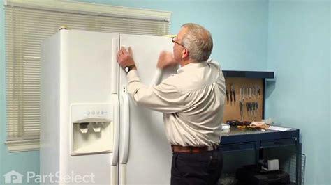 refrigerator repair replacing  door handle frigidaire part  youtube