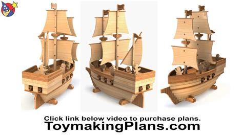 wood toy plan pirate ship madagascar youtube