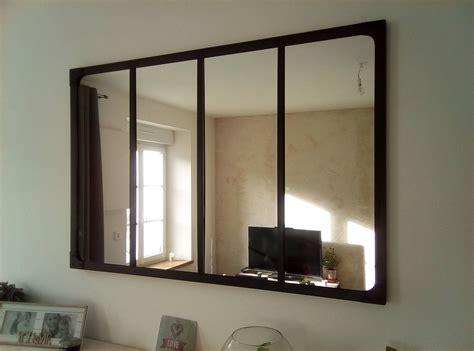 Miroir style verrière industriel 120x80 cm