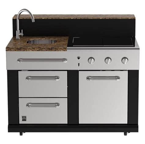 outdoor grill with sink master forge bg179c 3 burner modular outdoor kitchen sink
