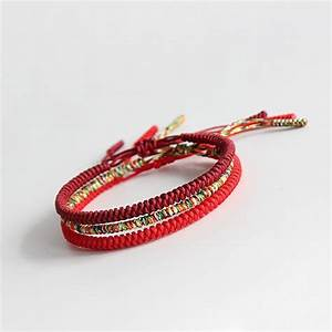 Bracelet Tress Bouddhiste Tibtain Nud Coulissant