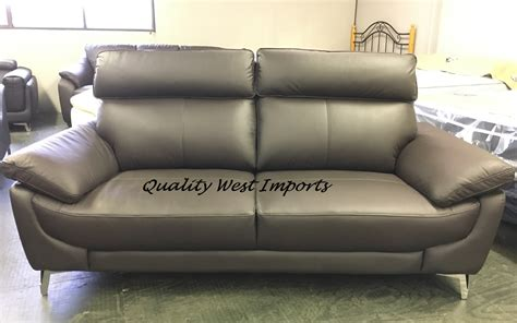 Real Leather Sofa Sets Sale by Real Leather High Back Sofa Set 3 2 9676 Quality West