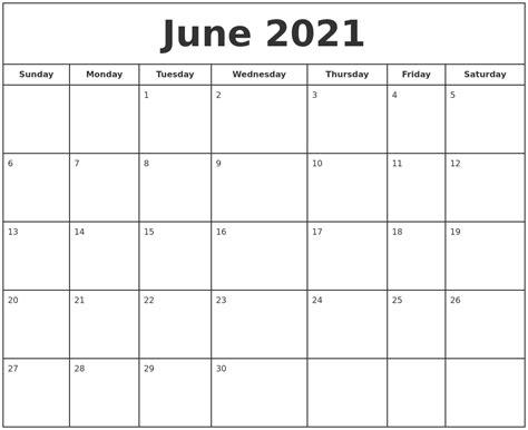 june  print  calendar