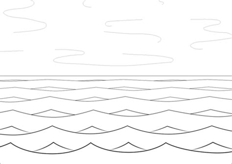 sea  waves coloring page  printable coloring pages