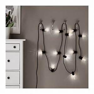 Ikea Guirlande Lumineuse : svartr led lighting chain with 12 lights black outdoor ikea ~ Teatrodelosmanantiales.com Idées de Décoration