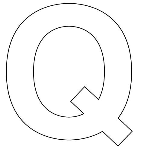 with letter q q a clipart clipart suggest Words