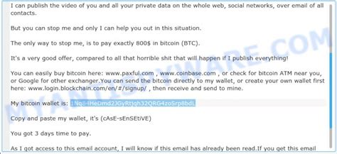 A friend of mine received an email this morning. 1Nq84HeDmd2JGyRtjqh32QRG4zoSrp8bdL Bitcoin Email Scam