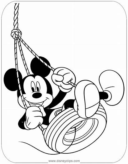 Mickey Coloring Mouse Pages Disney Swing Printable