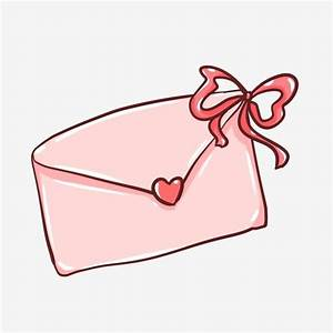 Pink Envelope Ribbon Love Sweet, Confession, Letter Token ...