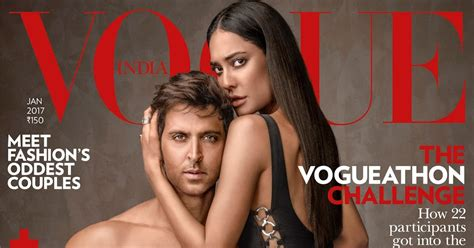 latest vogue cover latest vogue cover featuring lisa haydon and hrithik