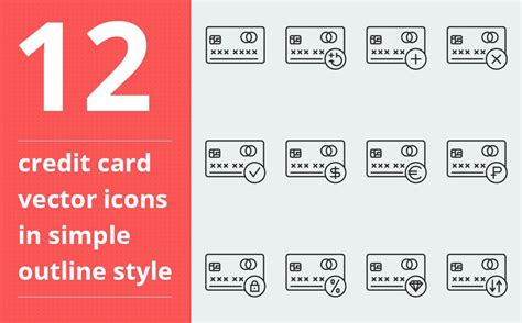 credit card vector iconset template   images