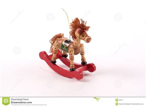 rocking horse christmas ornaments rocking tree ornament stock image image 23111