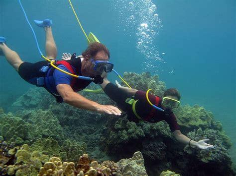 hookah surface supplied air  recreational divers