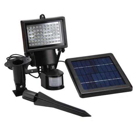 60led solar l powered motion sensor security light