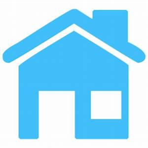 Caribbean blue home 5 icon - Free caribbean blue home ...