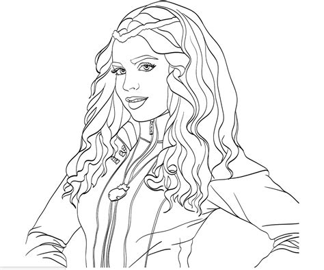 Mal And Evie From Descendants Coloring Pages Coloring Pages