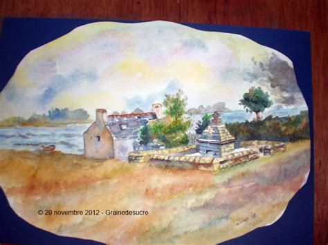 aquarelle la maison pr 232 s de la fontaine grainedesucre