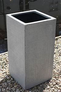Pflanzkübel Eckig Beton : pflanzk bel blumenk bel block 80 aus fiberglas beton design ~ Sanjose-hotels-ca.com Haus und Dekorationen