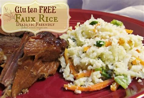 Never run out of delicious new ideas for breakfast, dinner, and dessert! Gluten free rice recipe; faux rice. diabetic friendly ...